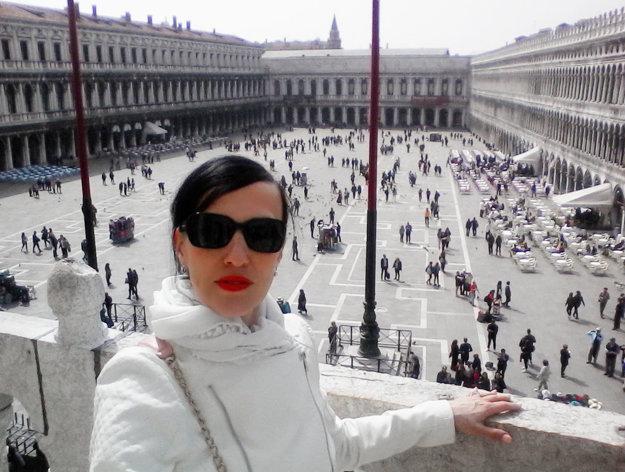 Danica Hudáková v Benátkach.