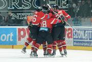 Hokejisti Banskej Bystrice sa tešili v Nitre z víťazstva.