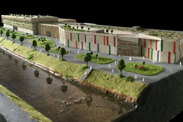 Takto by vyzeral priestor pri rieke podľa predstáv tretiakov zo SPŠ stavebnej.