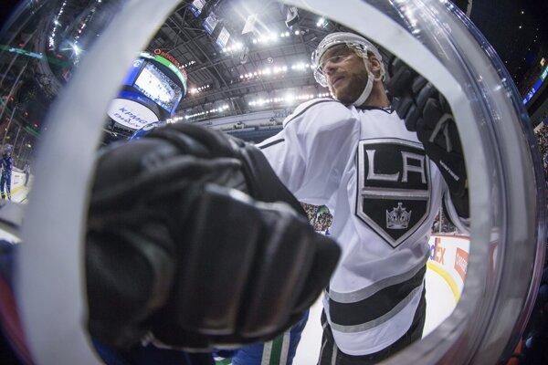 Na snímke slovenský útočník LA Kings Marián Gáborík v zápase hokejovej NHL Vancouver Canucks - Los Angeles Kings v noci na 1. apríla 2017.