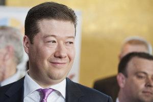 Tomio Okamura z hnutia ÚSVIT.