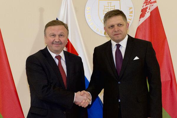 Robert Fico prijal bieloruského premiéra Andreja Kobjakova.