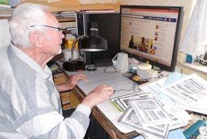 Ján Zaťka (90-ročný) spravuje vlastný profil na facebooku apíše príbehy zo života.