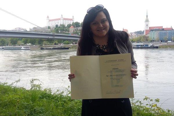 Janka Pisarčíková. Pod Tatry si doniesla krásne ocenenie.