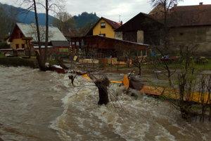 Záplavy v Liptovskom Jáne.