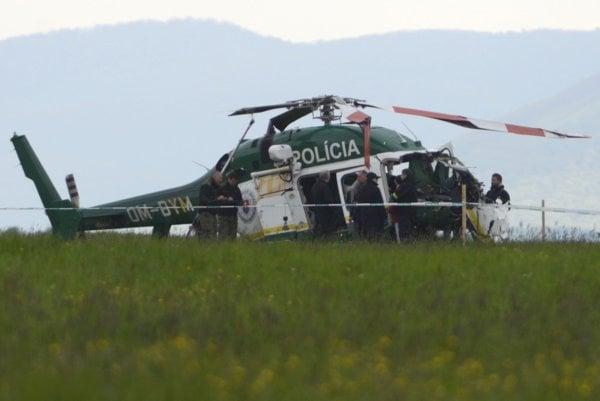 Havarovaný vrtuľník Bell 429.