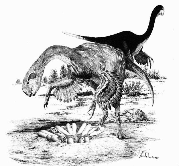 Dospelí jedinci. Takto nejako si predstavujú vedci dospelého dinosaura tohto druhu.