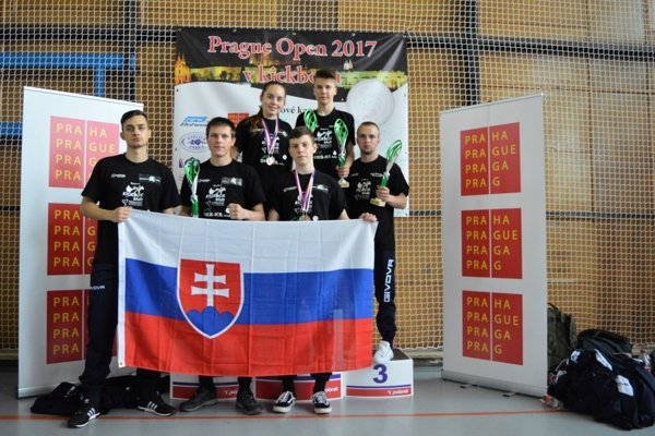 Michalovskí kickboxeri na turnaji Prague Open 2017.