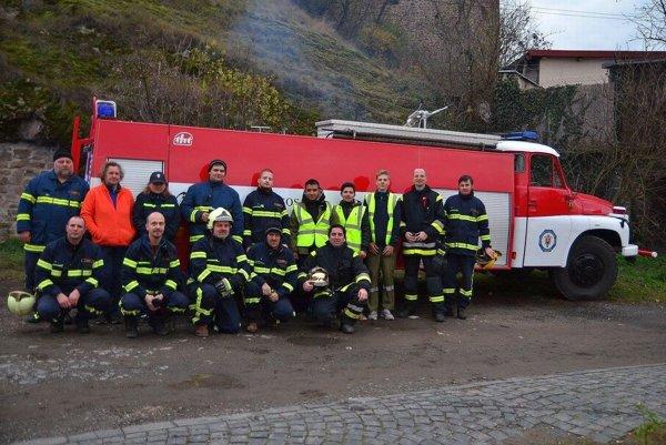 Dobrovoľní hasiči z Fiľakova.
