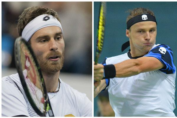 V prvom kole kvalifikácie na Roland Garros sa darilo Gombosovi (vľavo) aj Kovalíkovi.