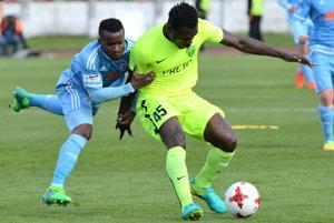 Ernest Mabouka (v žltom) odchádza zo Žiliny po siedmich rokoch.