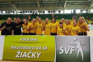 Žiačky VA UNIZA Žilina po turnaji v Leviciach.