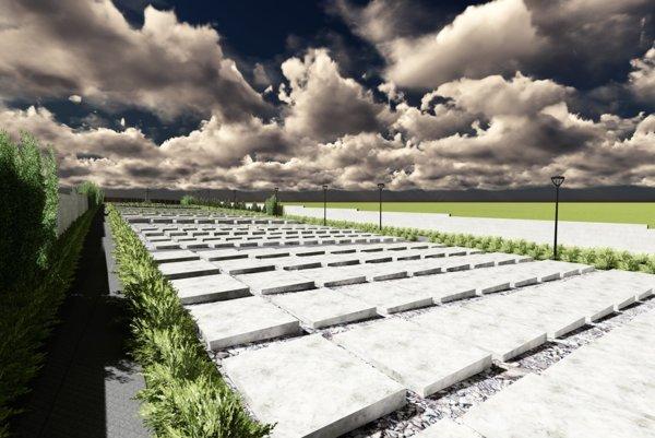 Aktualizovaná vizualizácia rozšíreného cintorína.