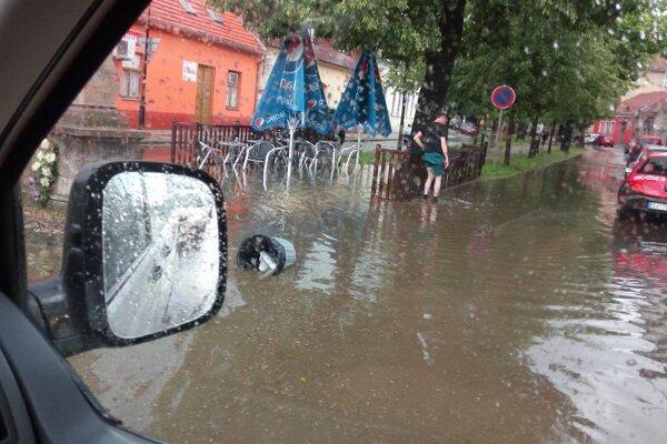 Zaplavené centrum Skalice