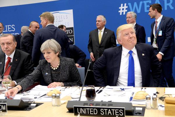 Donald Trump na summite NATO v Bruseli.