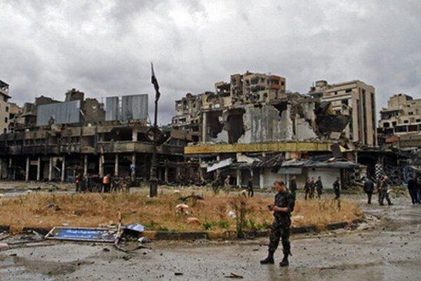 Zbombardovaný Homs.