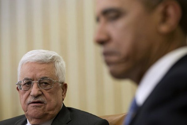 Mahmúd Abbás a Barack Obama.