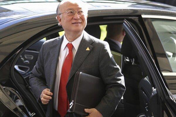 Šéf Medzinárodnej agentúry pre atómovú energiu (MAAE) Jukija Amano.
