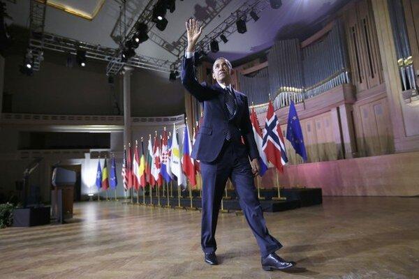 Obama v Bruseli hovoril najmä o ruskej agresii, no oceňoval aj ideály Ukrajincov.