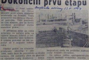 O stavbe vodnej nádrže Domaša písala dobová tlač.