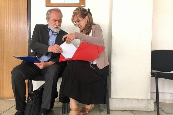 Janka Bačová počas pojednávania na Okresom súde v Trenčíne.