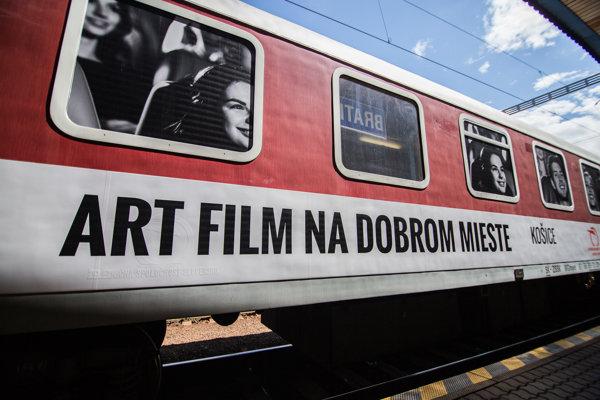 Špeciálny filmový vagón 25. ročníka Art Film Fest Košice.