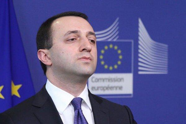 Gruzínsky premiér Irakli Garibašvili v sídle Európskej komisie v Bruseli vo februári.