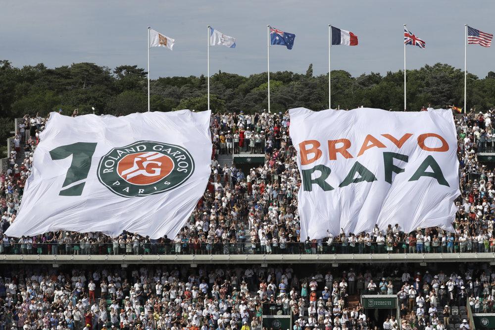 Fanúšikovia boli na Nadalovu výhru pripravení.