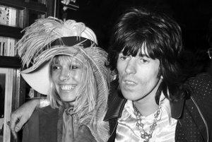 Anita Pallenberg a Keith Richards v roku 1968.