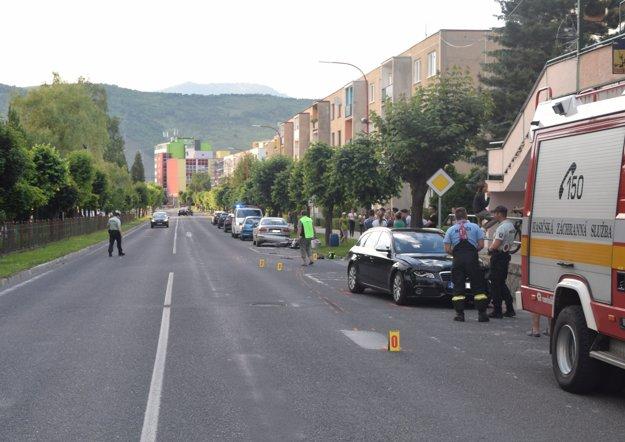 K nehode došlo na tejto ulici.