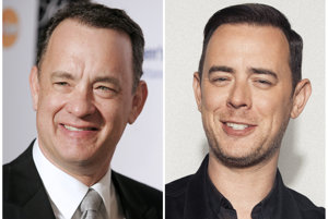 Tom Hanks a jeho syn Colin.