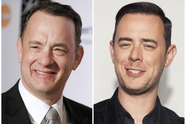 Tom Hanks a jeho syn Colin.