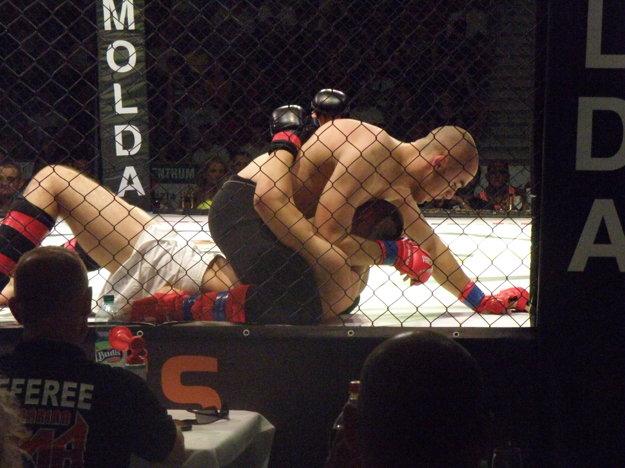 MMA prináša aj takéto nekompromisné súboje na zemi