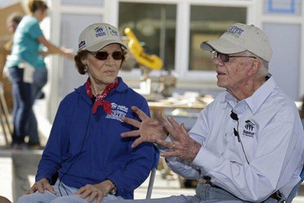 Jimmy Carter s manželkou Rosalynn.