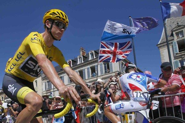 Chris Foome na Tour de France 2017, ilustračná fotografia.