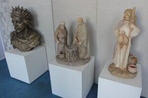 Diela Ľudmily Cvengrošovej - zľava Keltský panovník, Keltskí kováči a Keltský kňaz - druid.