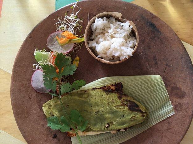 V Casa Taviche servírujú aj sendvič z kaktusu a syra
