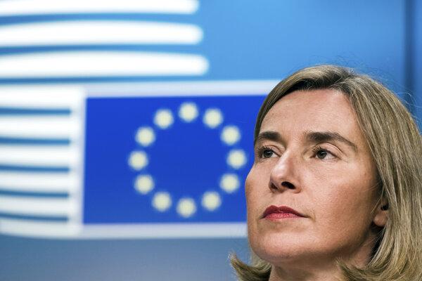 Šéfka diplomacie EÚ Federica Mogheriniová.