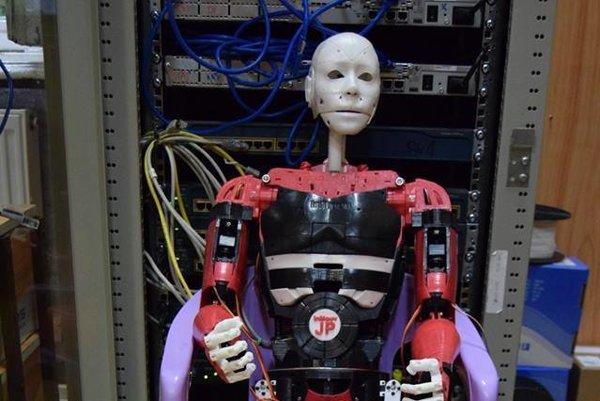 Humanoidný Šrobárčan. Za dobré vysvedčenie mu vytlačili na 3D tlačiarni aj obe nohy, ktoré mu doteraz chýbali.