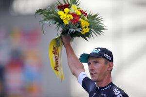 Maciej Bodnar sa teší z etapového víťazstva.