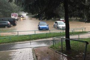 Situácia v Moldave nad Bodvou po nedeľňajšej búrke.