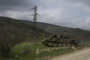 Arménska hliadka v oblasti Náhorného Karabachu.