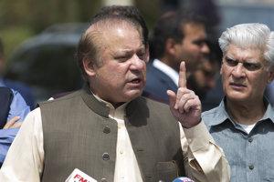 Odvolaný pakistanský premiér Naváz Šaríf.