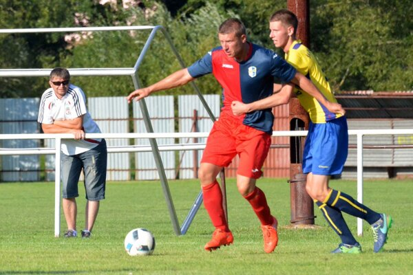 Peter Koleno (vľavo) strelil víťazný gól Dynama.