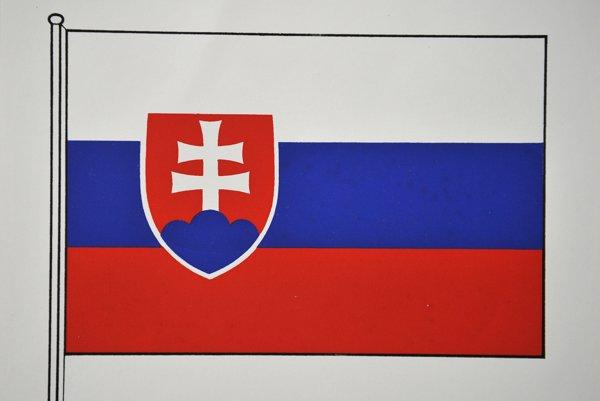 Slovenská štátna vlajka.
