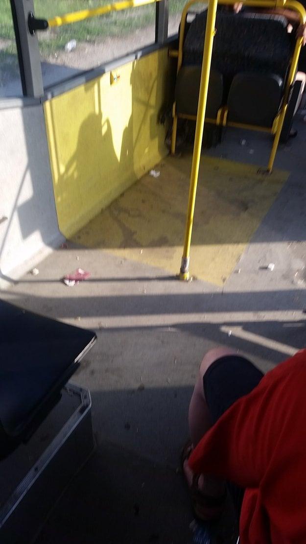 Špina a odpadky. Ani dobytok takto nevozia, poznamenala cestujúca.