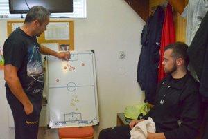 Keď má slovo tréner Ladislav Fazika (vľavo), tak všetci počúvajú.