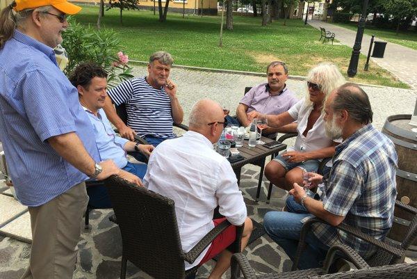 Členovia kapely navštívili Galantu v júli.