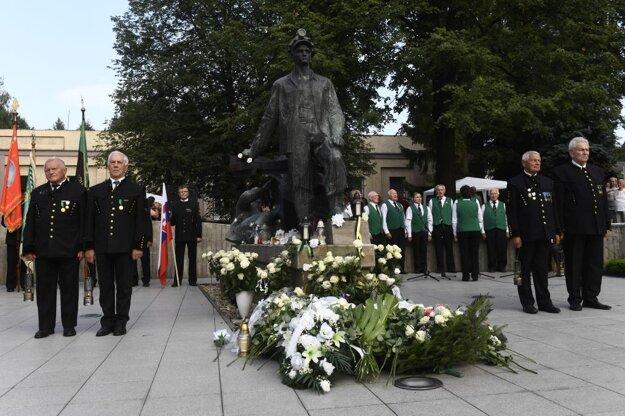 Pietna spomienka na obete banských nešťastí 10. augusta 2017 v Handlovej.