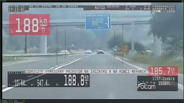 Vodič prekročil rýchlosť takmer o 90 kilometrov za hodinu.